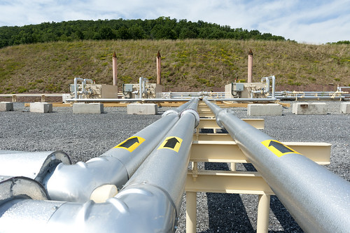 Shale gas pipes, Pennsylvania USA