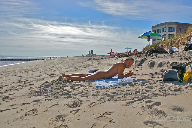 naturist 0000 Jacob Riis Park beach, NY, USA