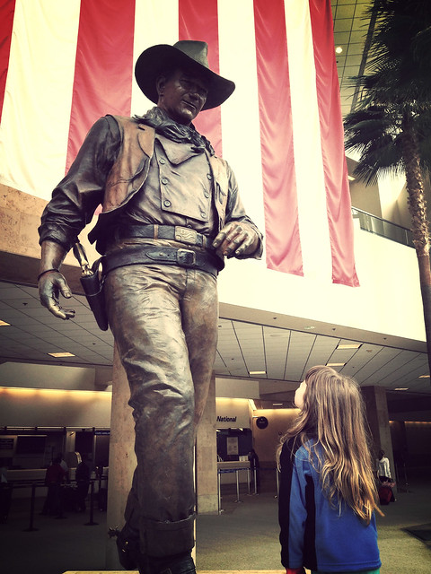 Ellie and John Wayne