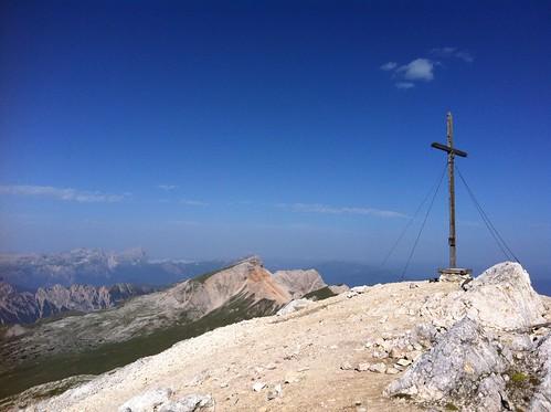 Gipfelkreuz Seekofel auf 2.810 m