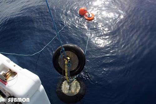 Lazamiento del dispositivo EAR en mar