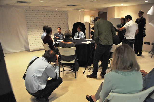 Press Conference with Photographer Platon, Sarasota, Fla., Jan. 27, 2014