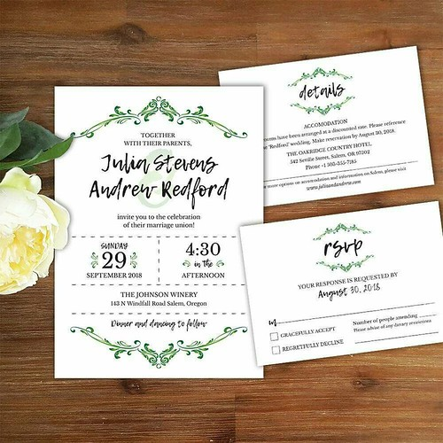 High resolution Wedding invitation, Details and RSVP card template printable supplied as a PDF format http://etsy.me/2nkIQ3B #weddinginvitations #beautifulwedding #invitations #diyinvitations #weddings #diywedding #best #gorgeous #floral #vintagewedding #