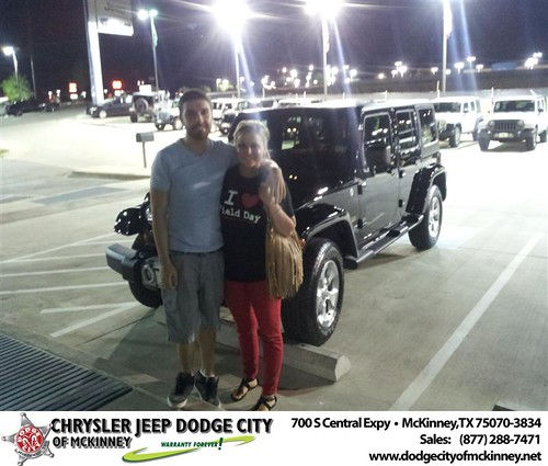 Dodge City of McKinney would like to say Congratulations to Hollie Hays on the 2013 Jeep Wrangler from Brent Villarreal by Dodge City McKinney Texas