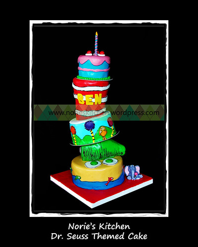 Norie's Kitchen - Dr. Seuss Themed Cake by Norie's Kitchen