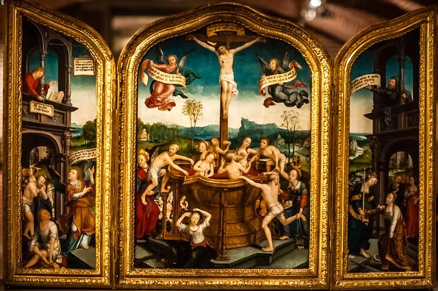 Triptyque du Bain Mystique, Jean Bellegambe, Lille, France, Le Palais Des Beaux Arts