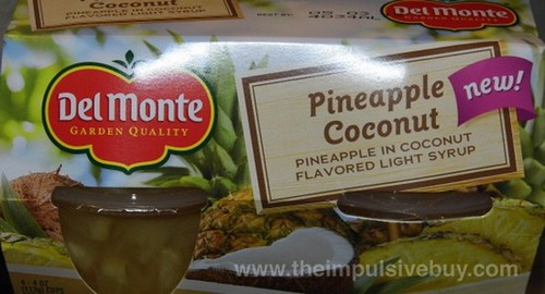 Del Monte Pineapple Coconut Cups