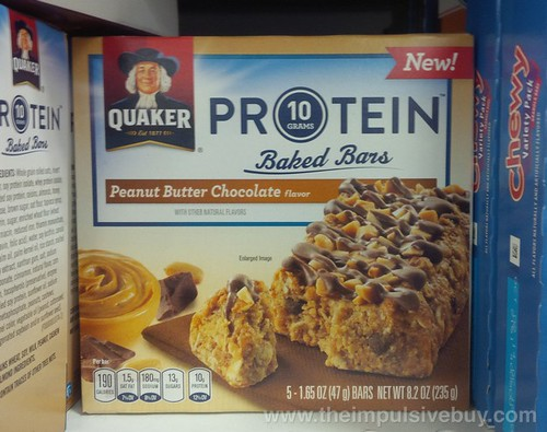 Quaker Peanut Butter Chocolate Protein Baked Bars