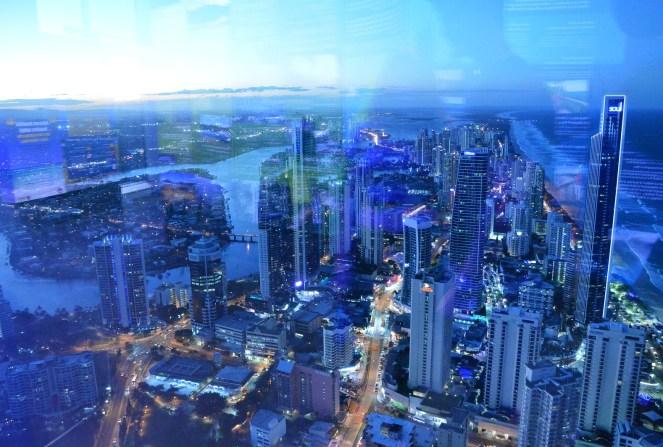 Skypoint, Gold Coast, Australia, night time