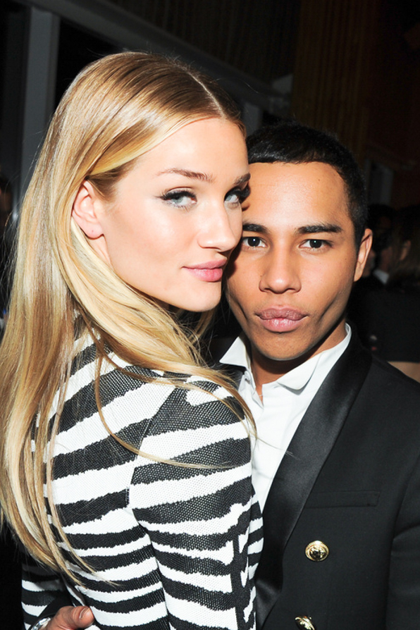 Rosie Huntington-Whitely and Olivier Rousteing