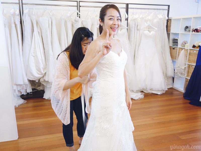 Blessed Brides Singapore Pronovias Clara Rosa