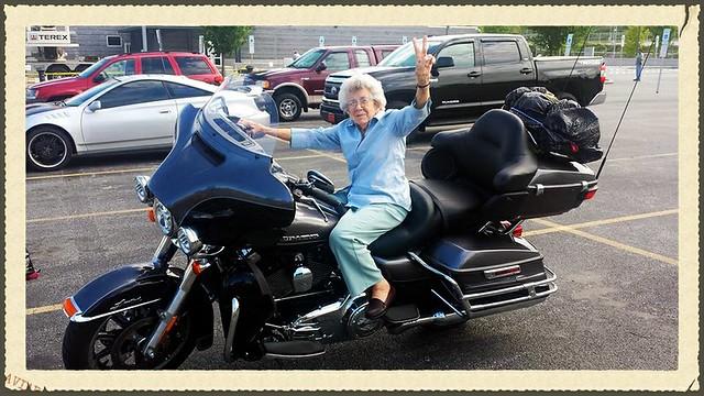 Mom on Harley 2