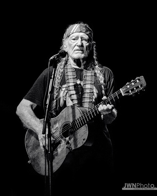 Willie Nelson B&W