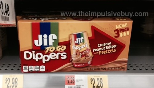 Jif To Go Dippers Creamy Peanut Butter with Pretzels