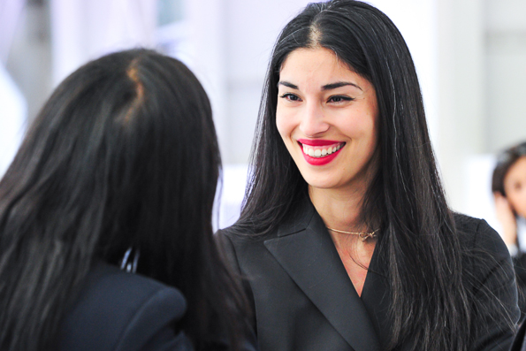 Caroline Issa attends the Christian Dior Cruise 2015 fashion show in Brooklyn.