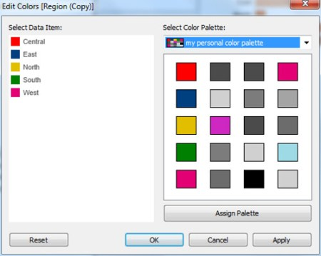 Choose color palette from preference file