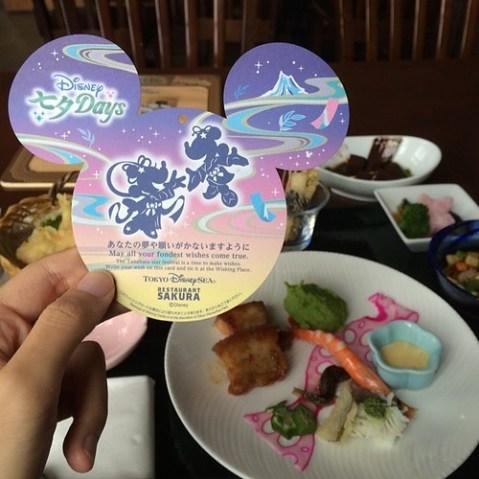 レストラン櫻のスペシャルセット。エビが架け橋になってる。
