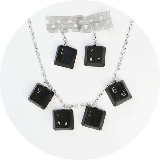 10 Computer Keyboard Earrings