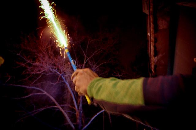 Street fireworks