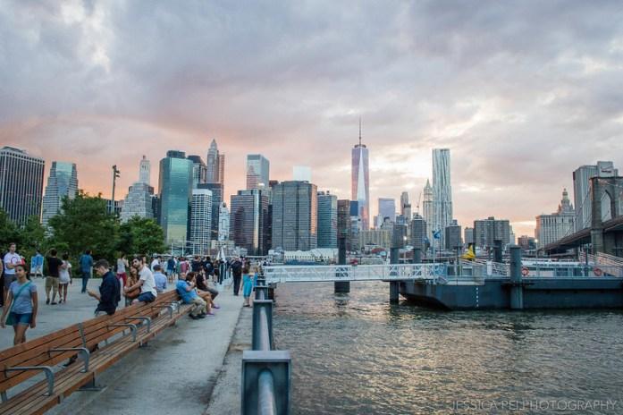 Manhattan sunset city