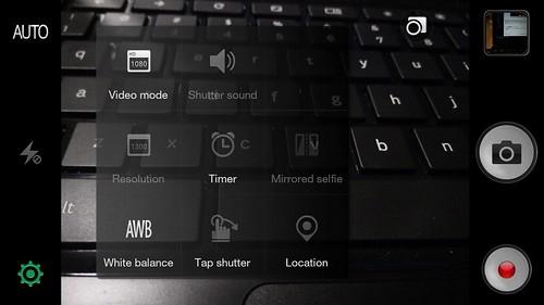 User Interface กล้องของ Oppo N1 Mini
