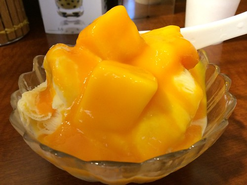 マンゴー味のチャーミースノーアイス@台湾物産館 笹塚本店