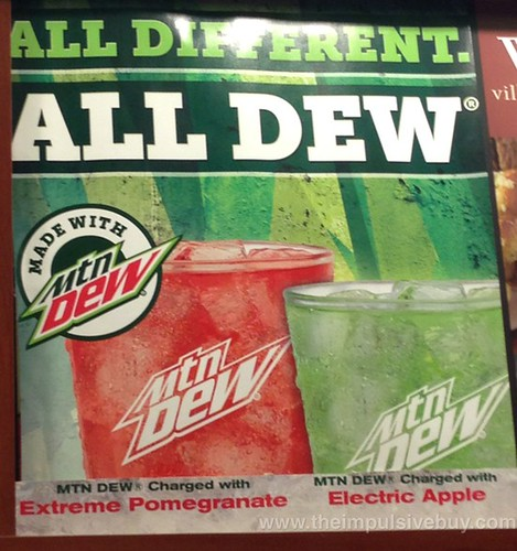 Villa Fresh Italian Kitchen Mtn Dew Charged with Extreme Pomegranate and Electric Apple