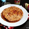 Pizza flavored paratha