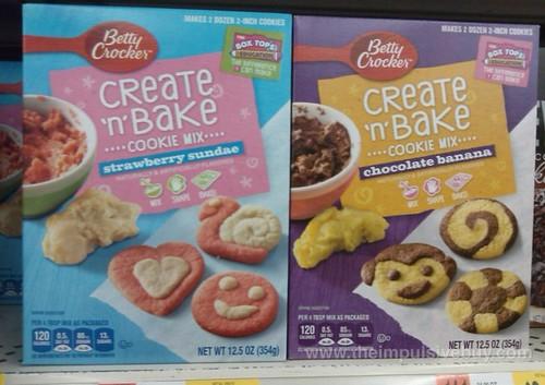 Betty Crocker Create 'n' Bake Cookie Mix (Strawberry Sundae and Chocolate Banana)