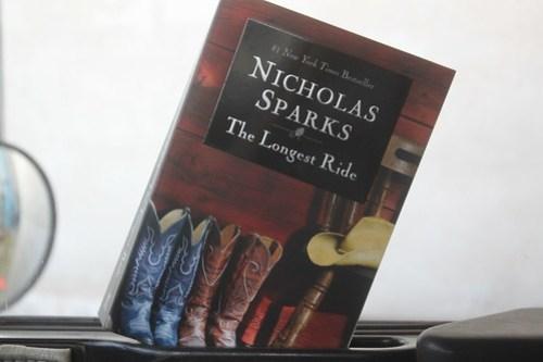 How I spend my down-time. I'm a sucker for Nicholas Sparks.