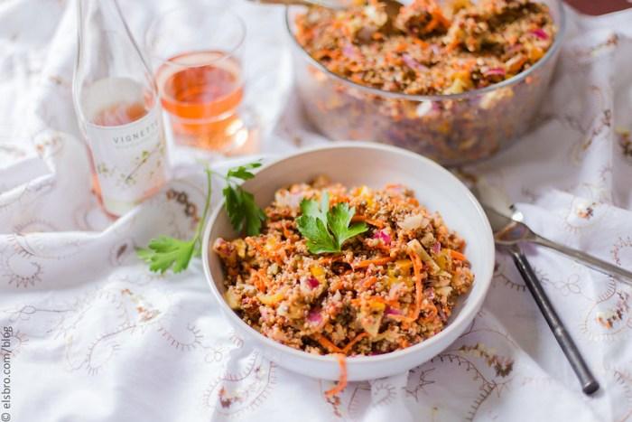 Quinoa, Lentil, Carrot and Fennel Salad