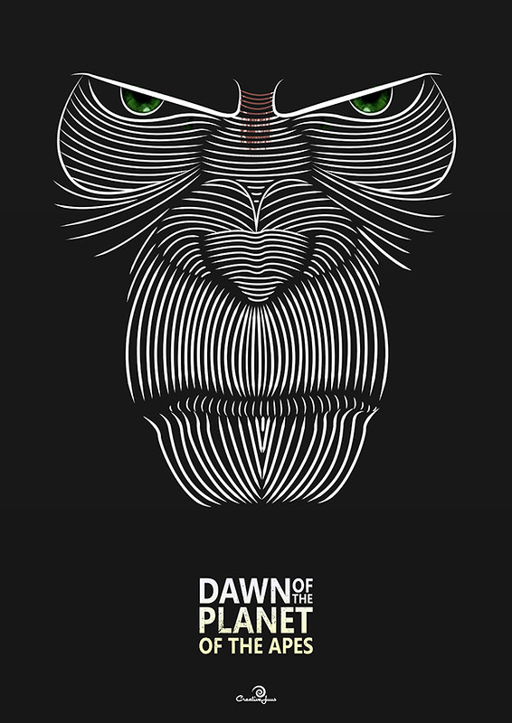 Dawn of the Planet of the Apes Poster design