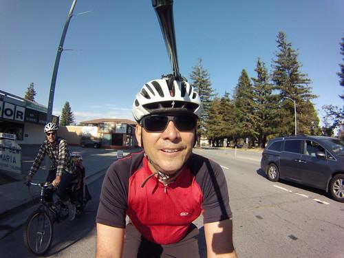 Me in a bike helmet