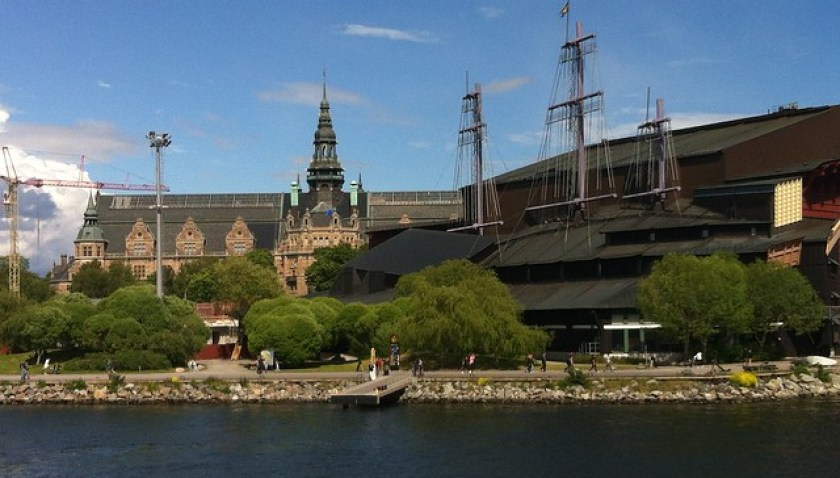 Exterior del edificio del Museo Vasa de Estocolmo buque de guerra Vasa, viaje a Estocolmo 1628 - 14064208444 24b6794abd z - buque de guerra Vasa, viaje a Estocolmo 1628