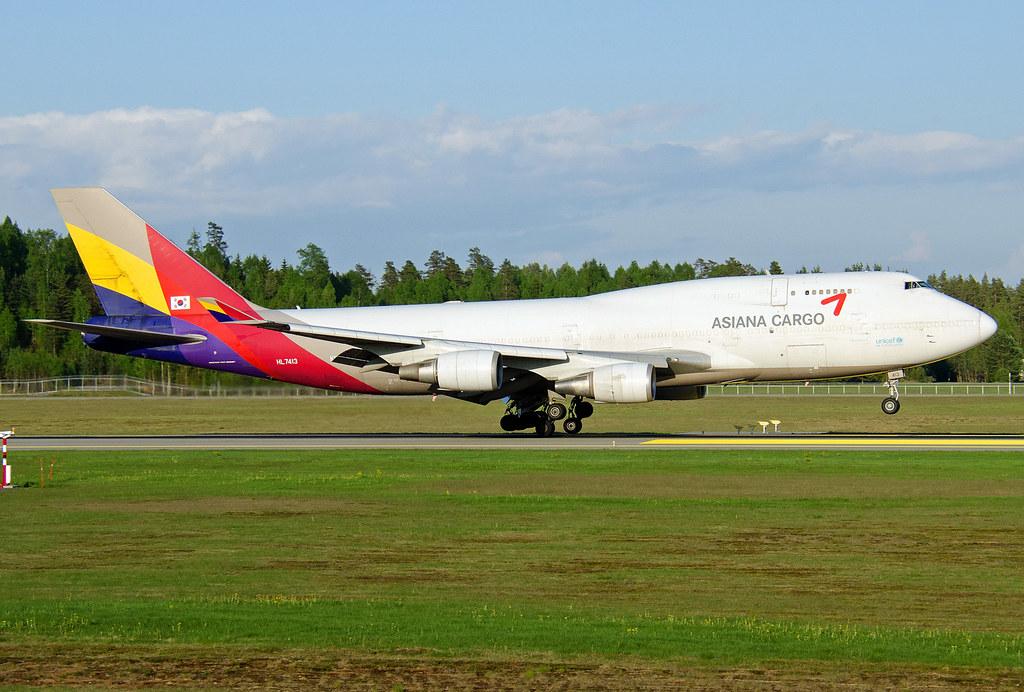 HL7413, Boeing 747-48EM(SF), Asiana, OSL 20.05.2014 ...