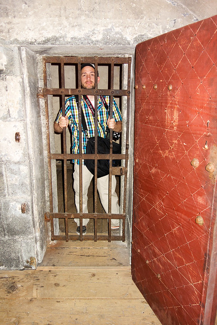 Matt was spending some much needed time behind bars.