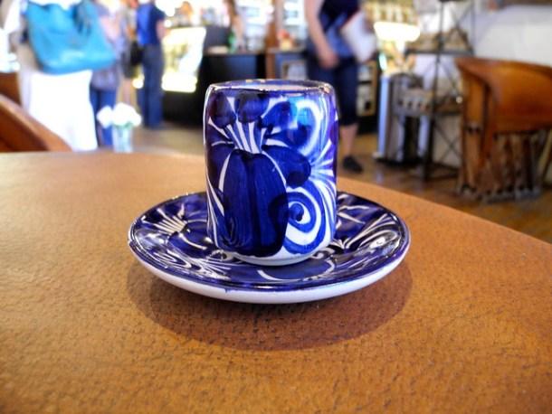 Cute blue and white mug