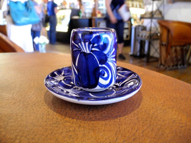 Cute blue and white mug