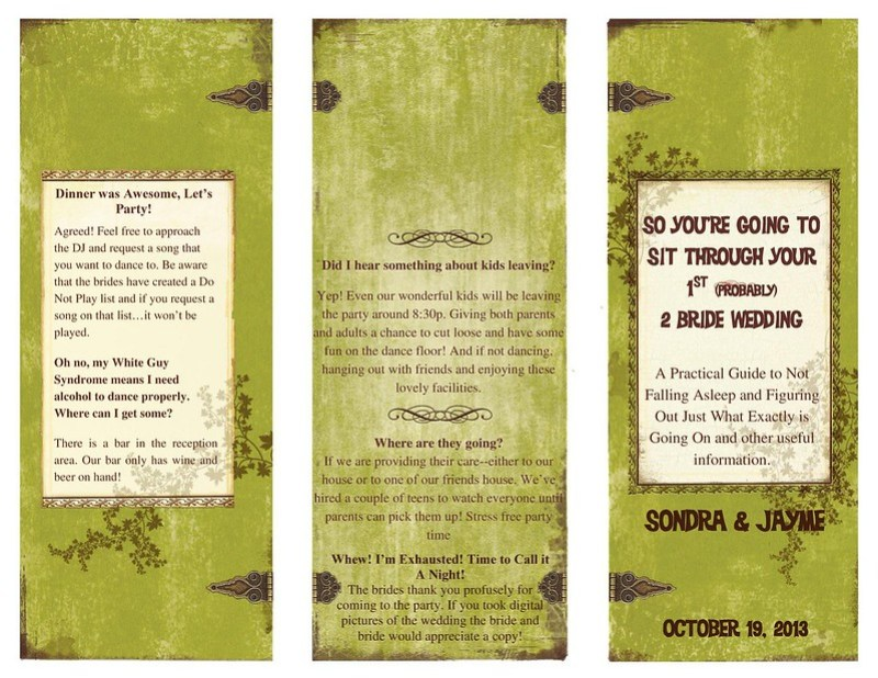 Wedding Program1