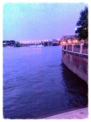 Columbus Riverwalk at night