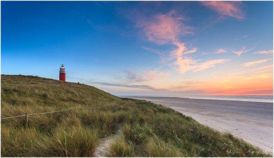 Een zomerse avond op Texel in het voorjaar