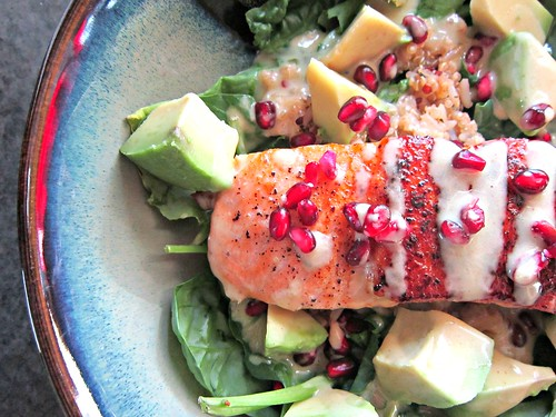 Superfood Salad with Pan-Seared Salmon 3