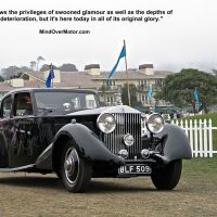 1934 Rolls Royce Streamline Saloon at Pebble Beach