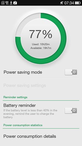Power manager ของ Oppo N1 Mini
