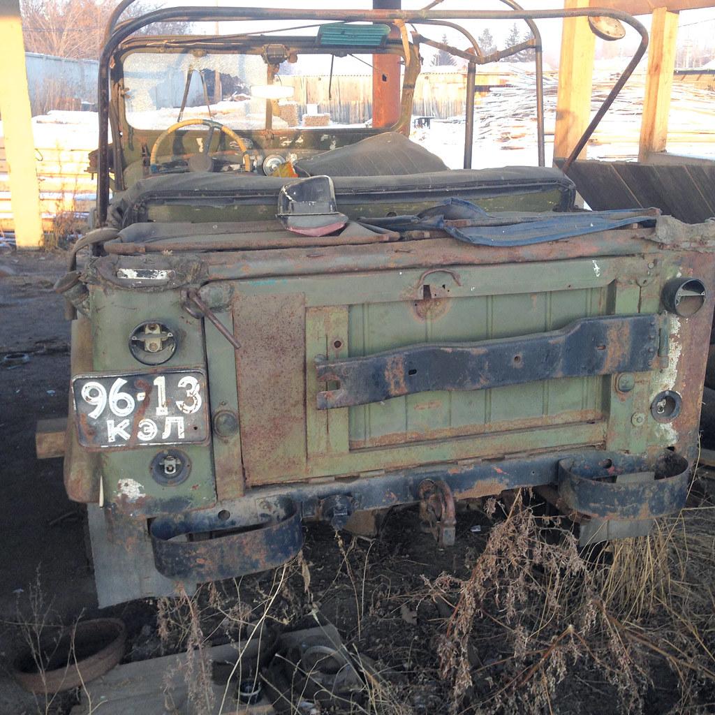 Донором шасси для воссоздания милицейского ГАЗ-69 стал автомобиль «гражданский»