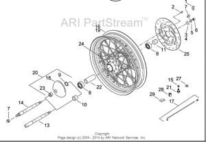 2000 heritage springer front axle diagram???  Harley