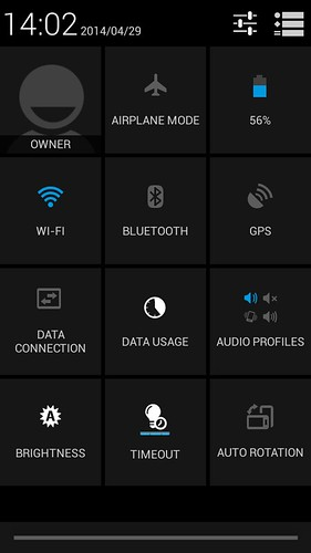 QuickSettings ของ Huawei Ascend Y600