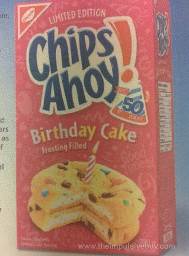 Christie Limited Edition Chips Ahoy Birthday Cake Frosting Filled