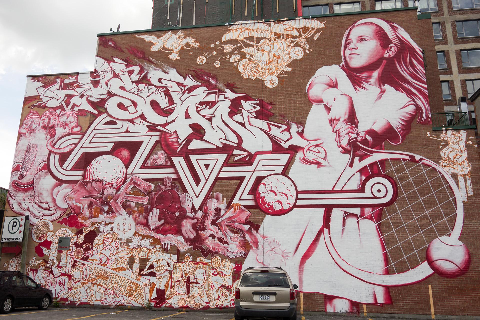 Tennis - Mural