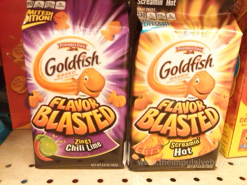 Pepperidge Farm Limited Edition Zingy Chili Lime and Screamin' Hot Flavor Blasted Goldfish